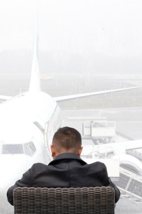 Veel vertraging op Eindhoven Airport door dichte mist