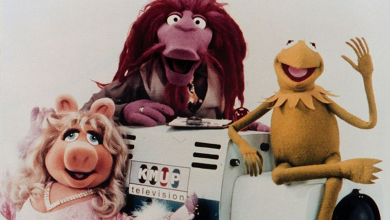 Miss Piggy, Clifford en Kermit de Kikker. © ANP Beeld