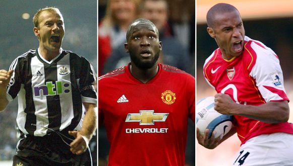 Alan Shearer - Romelu Lukaku - Thierry Henry.