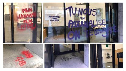 Feministische militanten bekladden hoofdkwartier N-VA en FOD Justitie