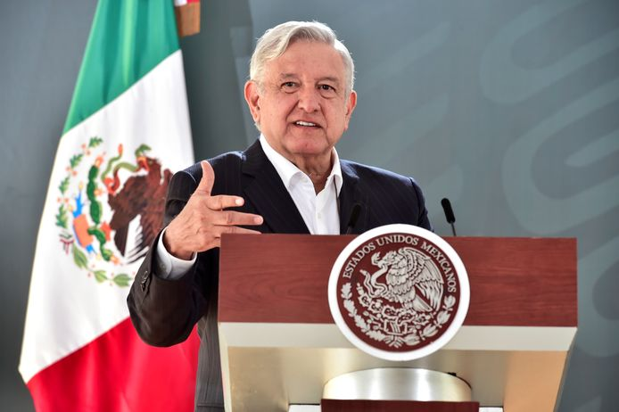 De Mexicaanse president Andrés Manuel López Obrador.