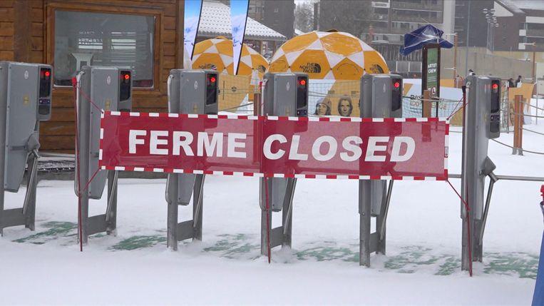 Skiliften sloten om 13u door de hevige sneeuwval