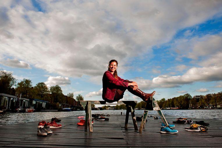 Olympisch kampioen Ilse Paulis doet graag mee aan de Varsity: 'Voor je land mogen roeien is een enorme eer, maar ik voel meer trots voor mijn vereniging'. Beeld Olaf Kraak