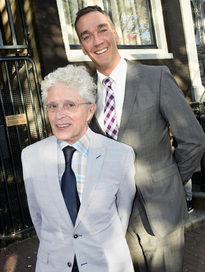 Jacques d' Ancona met partner Hans.