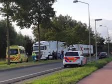 Onwel geworden trucker blokkeert weg in Nijkerk