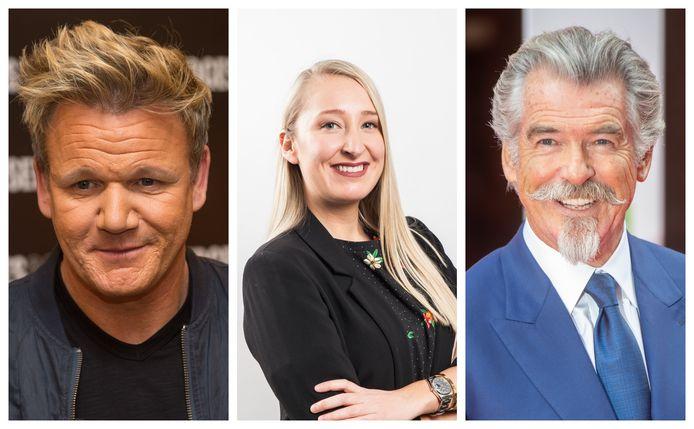 Kristien Gijbels zal deze week geen interviews kunnen doen met Gordon Ramsay en Pierce Brosnan