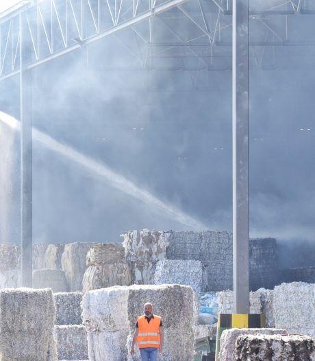 Brand bij papierverwerker in Tilburg