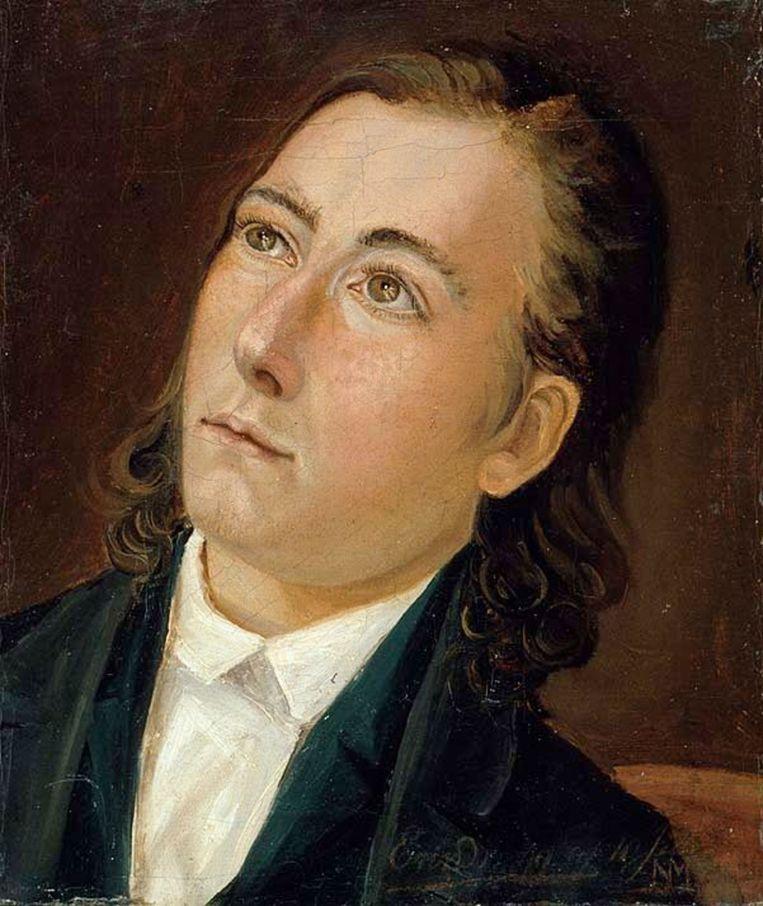 Zelfportret Lars Hertervig Beeld
