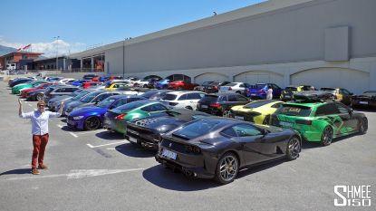 Politie Monaco verzamelt sportauto's: 70-tal Ferrari's, Porsches en Lamborghini's achter slot en grendel