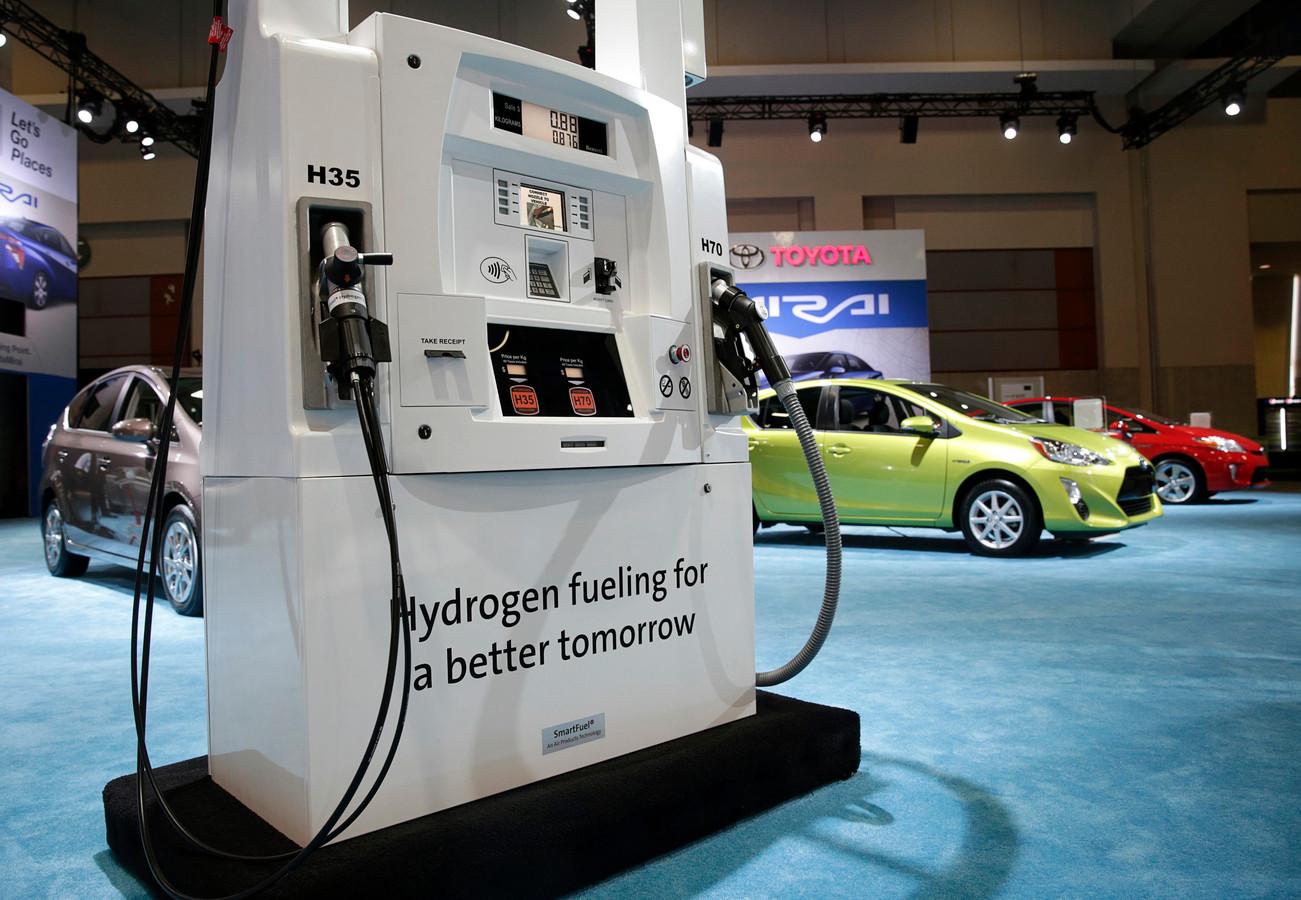 Een waterstofpomp van Toyota voor hun Mirai.