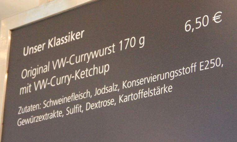 VW-curryworst in de aanbieding.