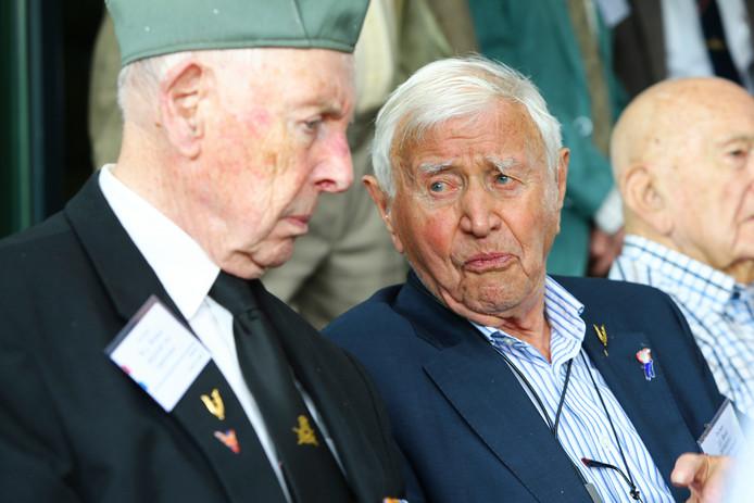 Jan Smid bij de ontmoeting van Tweede Wereldoorlogveteranen in Doorn.