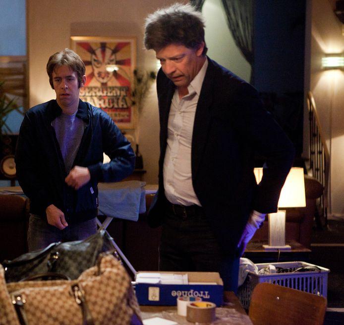 Van Geel op de set met Ben Segers.