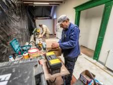 Gesloten musea: Slijpen en boren zonder bezoekers te storen