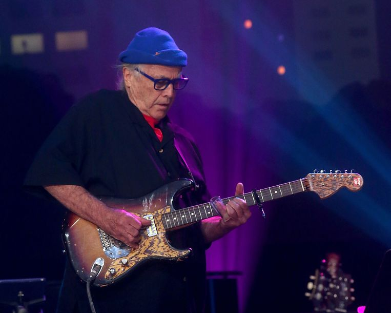 Ry Cooder in Austin, Texas, 2017. Beeld Getty Images