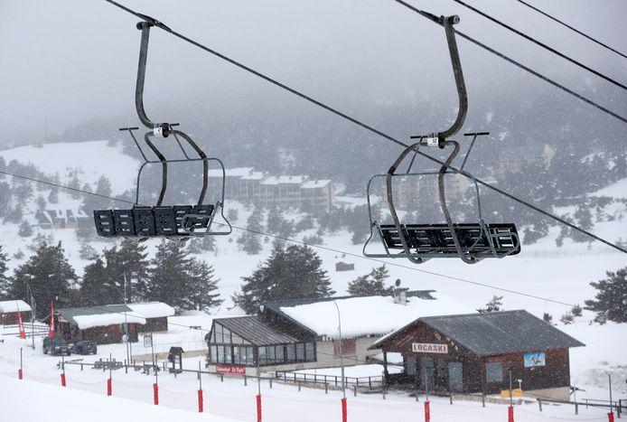 Gréolières-les-Neiges, dans les Alpes-Maritimes, ce 20 janvier.