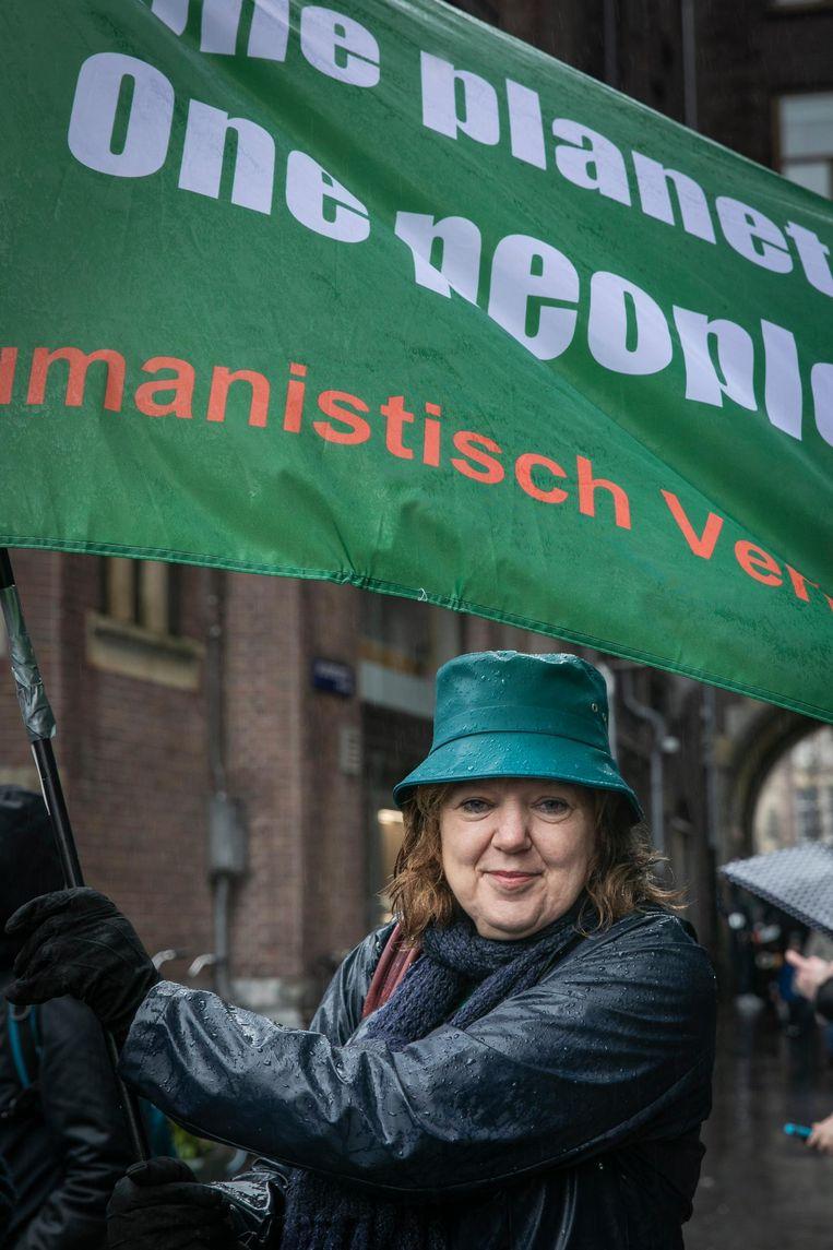 Christa Compas (55), directeur van het Humanistisch Verbond. Beeld Dingena Mol