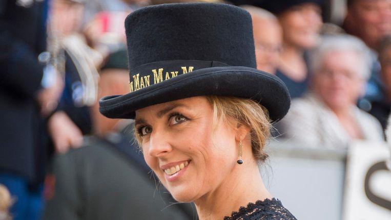 Marianne Thieme op Prinsjesdag met een 'Man Man'-hoed. Beeld anp
