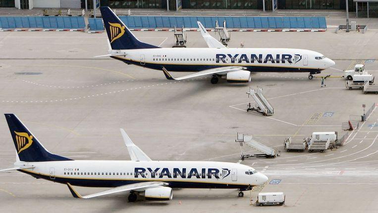 Vliegtuigen van Ryanair. Beeld getty