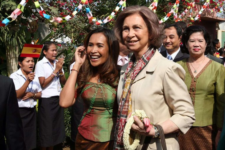 Somaly met de Spaanse koningin Sofia