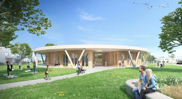 Op de zorgsite langs de Hospitaalstraat wordt een nieuw gebouw 'burger en welzijn' opgetrokken.