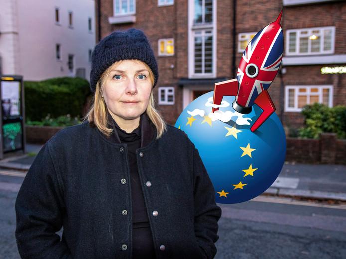Suse van Kleef Brexit interview with Nicola Jeffs in Brighton.Photo Jeroen Bosch