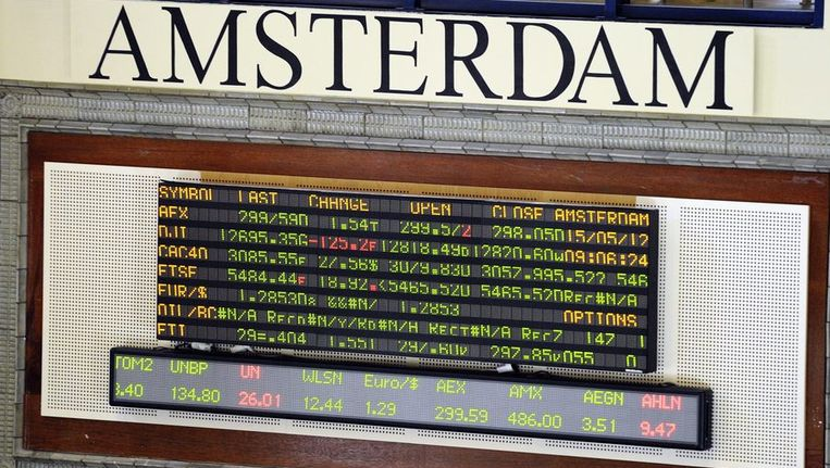 Aandelenbeurs in Amsterdam. Beeld anp