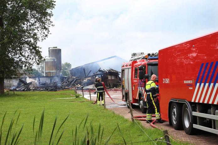 De brand woedde in een schuur in Zijtaart.