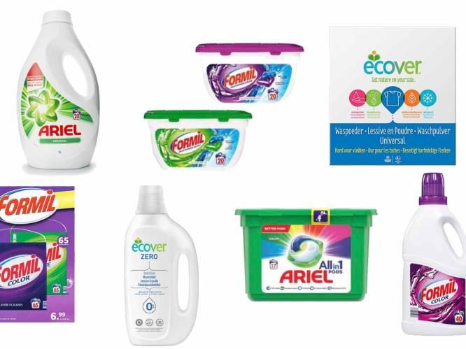 """De grote wasmiddelentest: """"Wie toch merkproduct verkiest, betaalt tientallen euro's meer voor een slechter resultaat"""""""