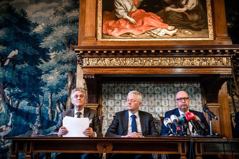 De burgemeesters van Den Bosch, Tilburg en Eindhoven bespreken dinsdag de coronacrisis in Noord-Brabant. Beeld ANP