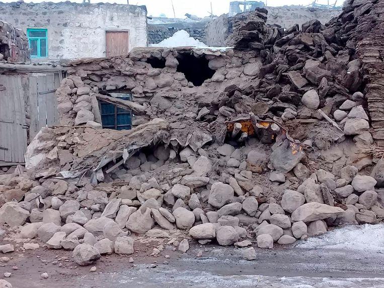 Schade in de Turkse provincie Van, op de grens met Iran.