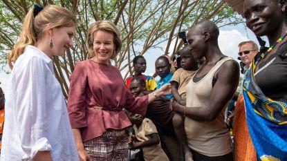 Koningin Mathilde en prinses Elisabeth bezoeken Keniaans vluchtelingenkamp