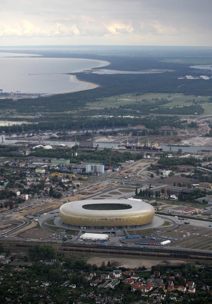Het Stadion Energa Gdańsk, waar op woensdag 27 mei 2020 de finale van de Europa League gespeeld wordt.