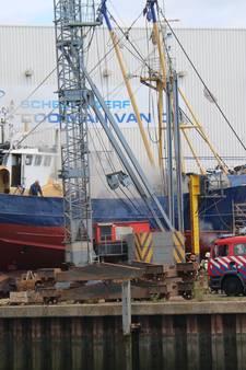 Brand in kotter bij scheepswerf in Yerseke geblust