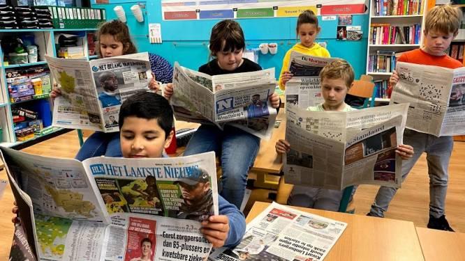 """Vierde leerjaar De Tandem verdiept zich in kranten: """"Kinderen gaan anders om met nieuws en informatie dan volwassenen"""""""