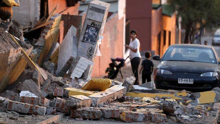 Schade na de 8.2-aardbeving van dinsdag in Iquique, Chili. Beeld reuters