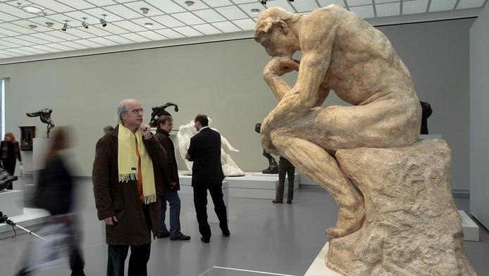 Het beroemde beeld van Rodin: de Denker