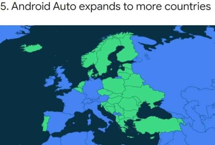 Zo kondigt Google de uitbreiding van Android Auto in Europa aan: met een gif