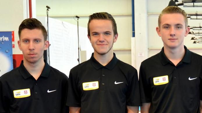 Vlnr: Jan van Lierop, Cyriel Ledoux en Joey Haegmans.