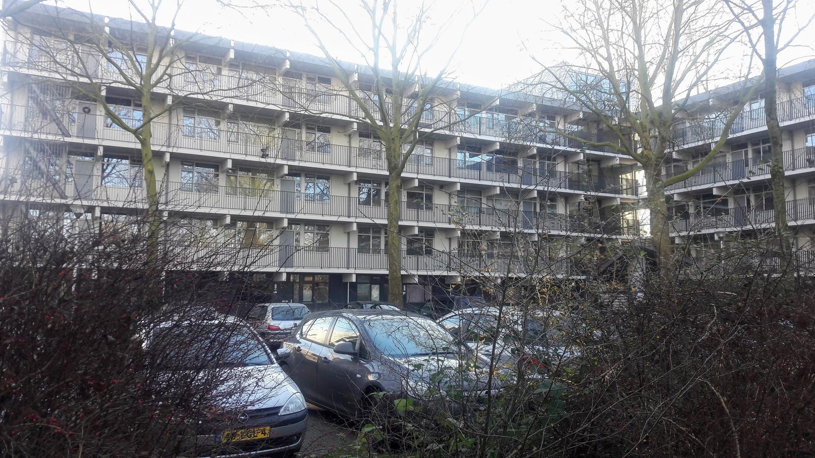De flat aan de Pomona in Wageningen.