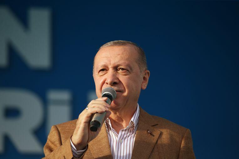 De Turkse president Erdogan. Beeld EPA