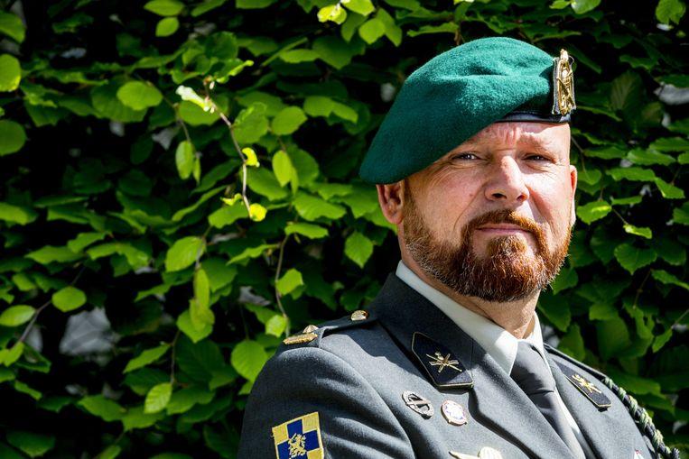 Marco Kroon, drager van de de Militaire Willems-Orde. Beeld ANP
