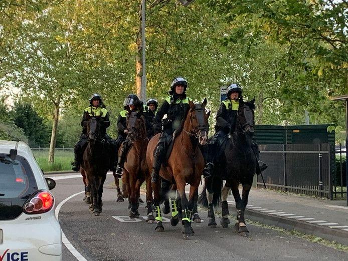 Politieinzet bij de rellen tussen aanhangers van FC Den Bosch en van Go Ahead Eagles na de voetbalwedstrijd op 22 mei.
