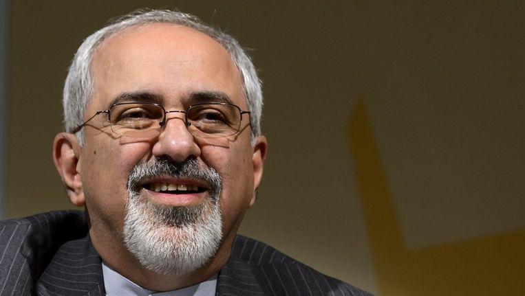 De Iraanse minister van buitenlandse zaken Mohammad Javad Zarif Beeld afp