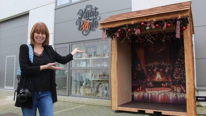 """Fotografe Kaat Bonte bouwt ideaal kersthuisje voor selfies: """"Shoots mag ik zelf niet doen, maar zo kunnen mensen toch leuke kerstkaartjes maken"""""""