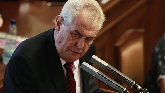 De Tsjechische president Milos Zeman. (Archiefbeeld)