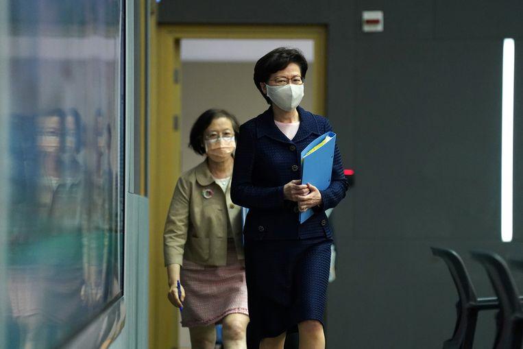 Met Carrie Lam en tien andere Chinese ambtenaren mogen Amerikanen geen zaken meer doen. Beeld REUTERS