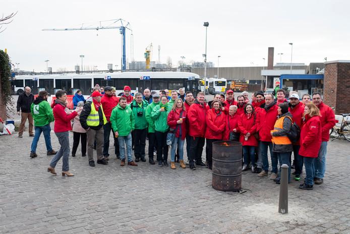 Piket van de stelplaats van vervoersmaatschappij De Lijn in Berchem.