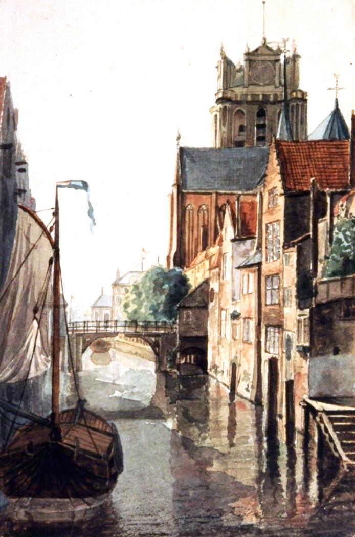 De Pelserbrug (ca. 1820) werd gebouwd rond 1285 en wordt vermeld in de stadsrekeningen.