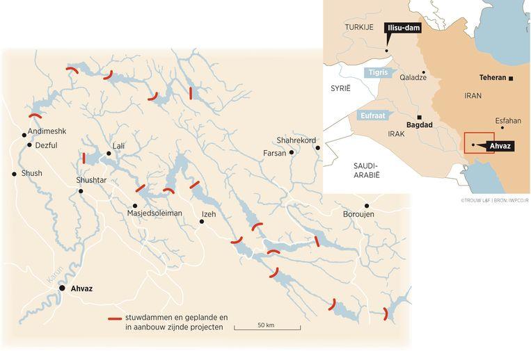 Stuwdammen in Iran Beeld Louman & Friso